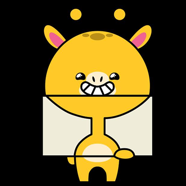 Short giraffe in the neck messages sticker-5