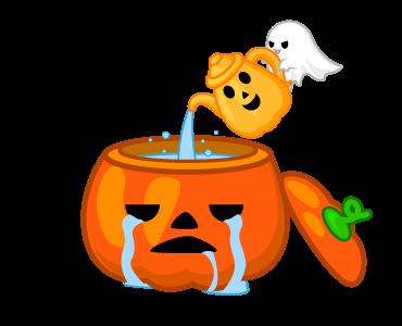 Monster Pumpkin In Halloween messages sticker-5