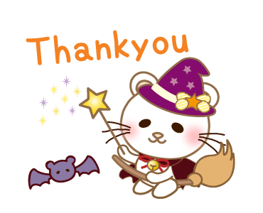 Halloween Night With Kitty messages sticker-2
