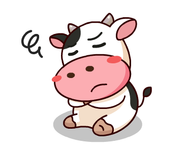 Happy Milk Cow Stickers Pack messages sticker-6