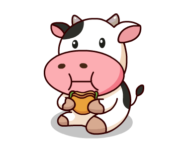 Happy Milk Cow Stickers Pack messages sticker-11