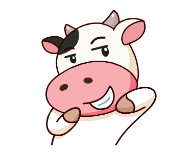 Happy Milk Cow Stickers Pack messages sticker-9