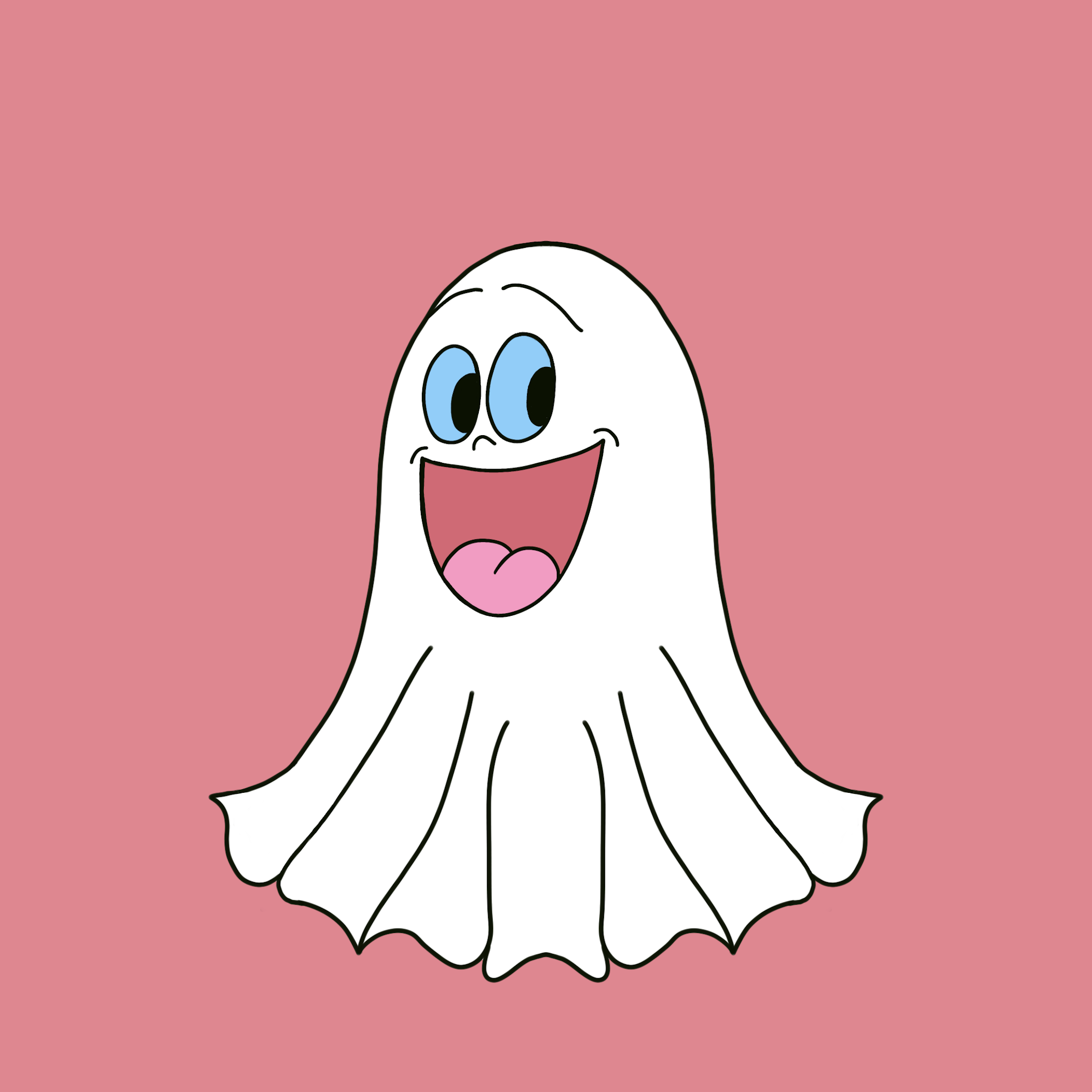 Cute Halloween Ghost stickers messages sticker-0
