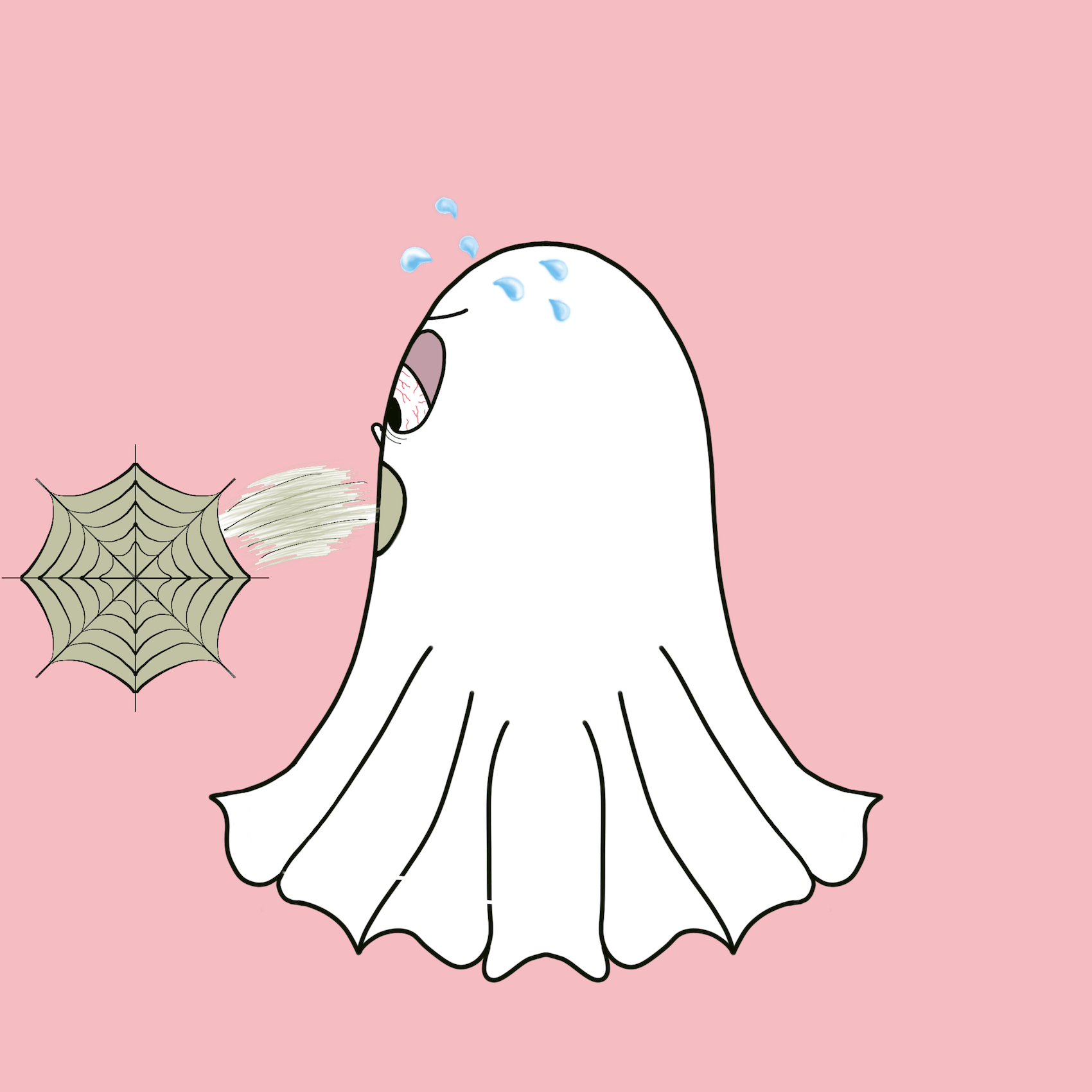 Cute Halloween Ghost stickers messages sticker-11
