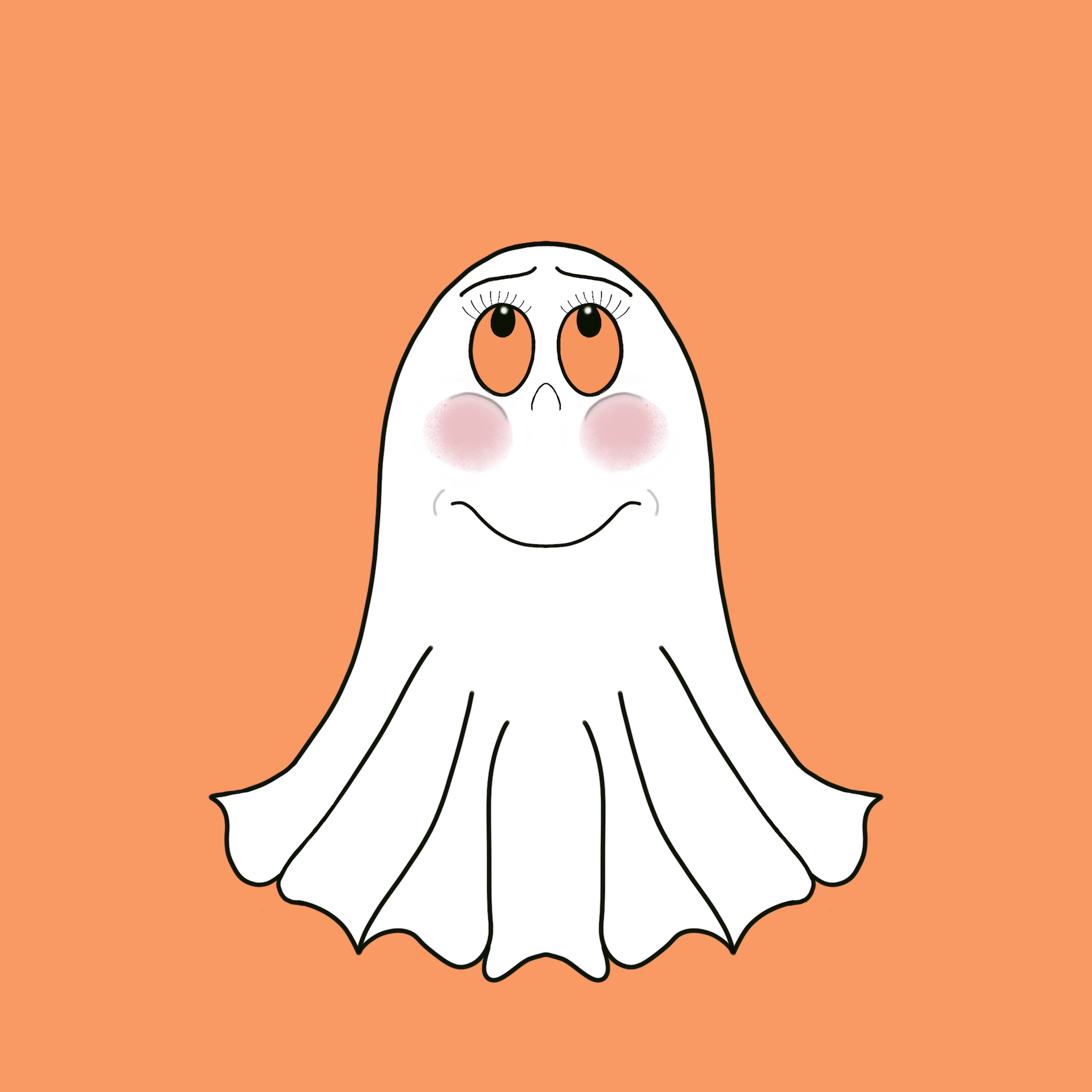 Cute Halloween Ghost stickers messages sticker-3