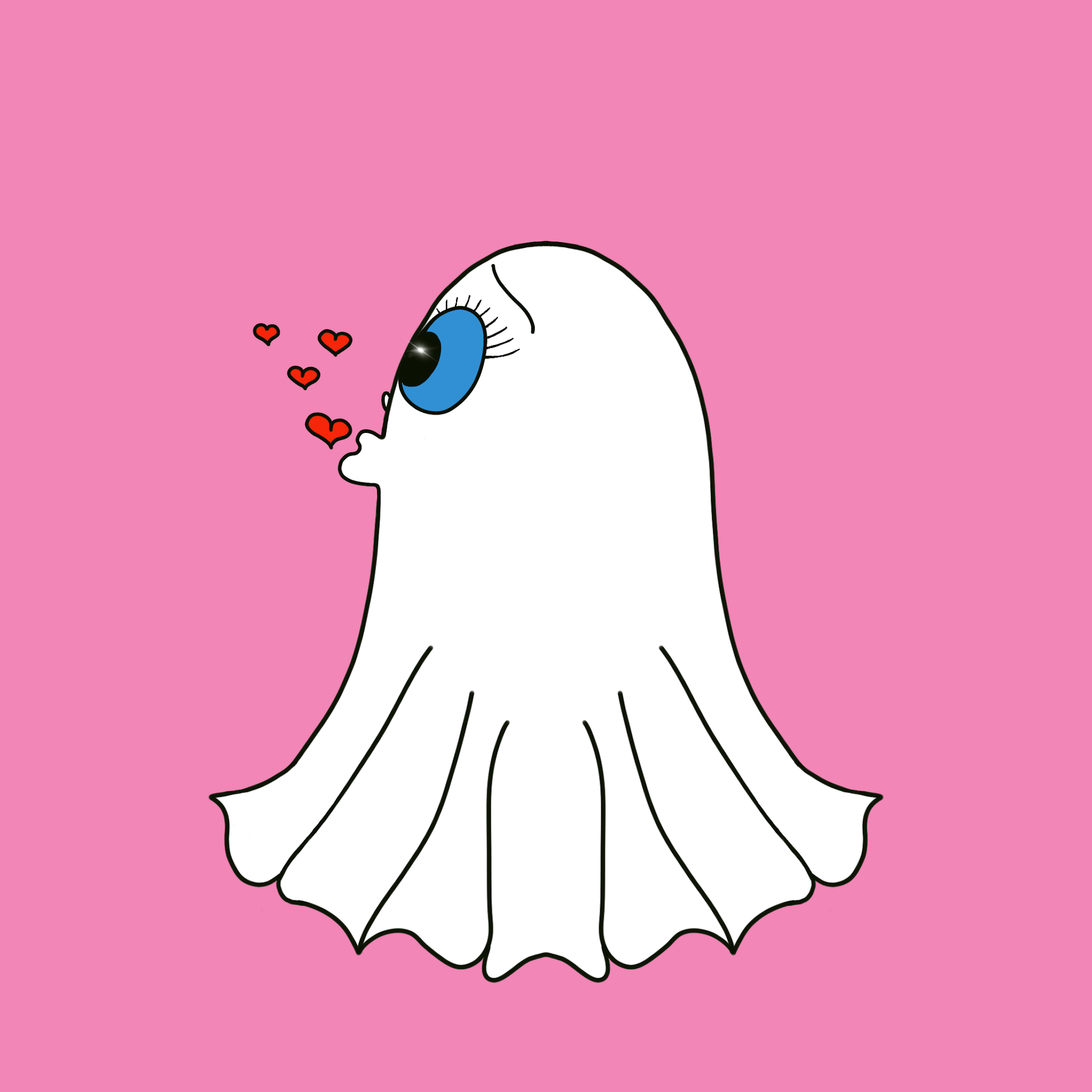 Cute Halloween Ghost stickers messages sticker-5