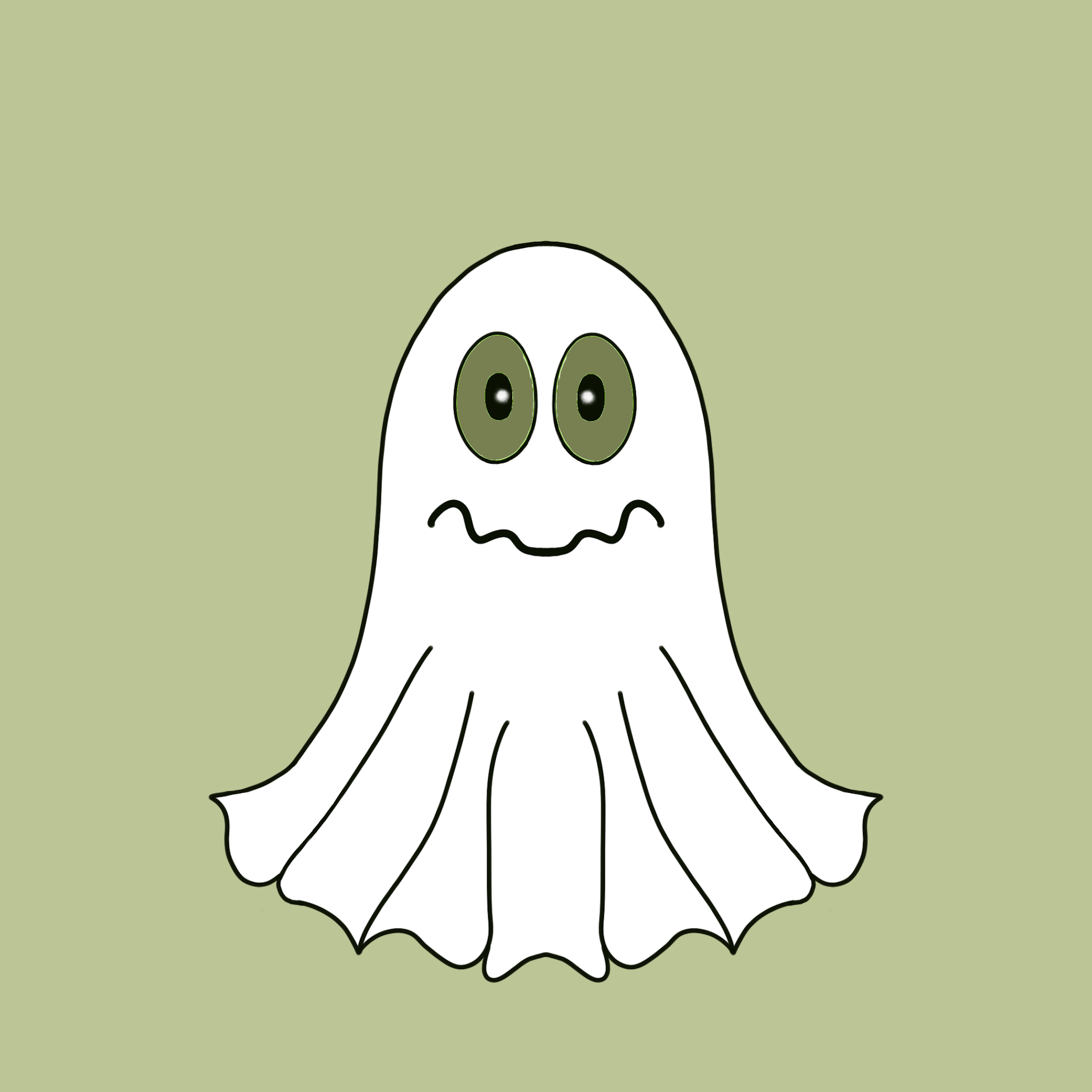 Cute Halloween Ghost stickers messages sticker-6