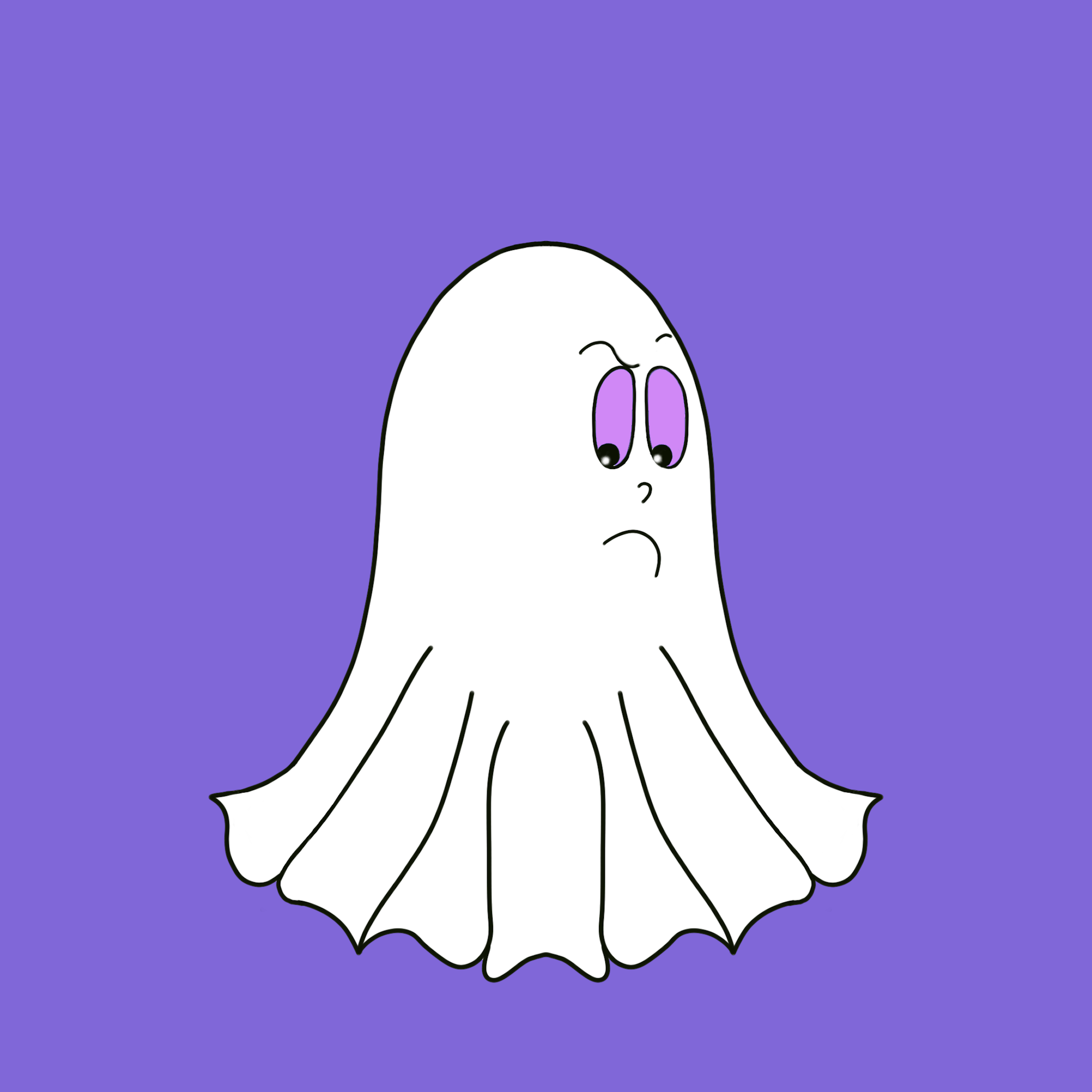 Cute Halloween Ghost stickers messages sticker-8