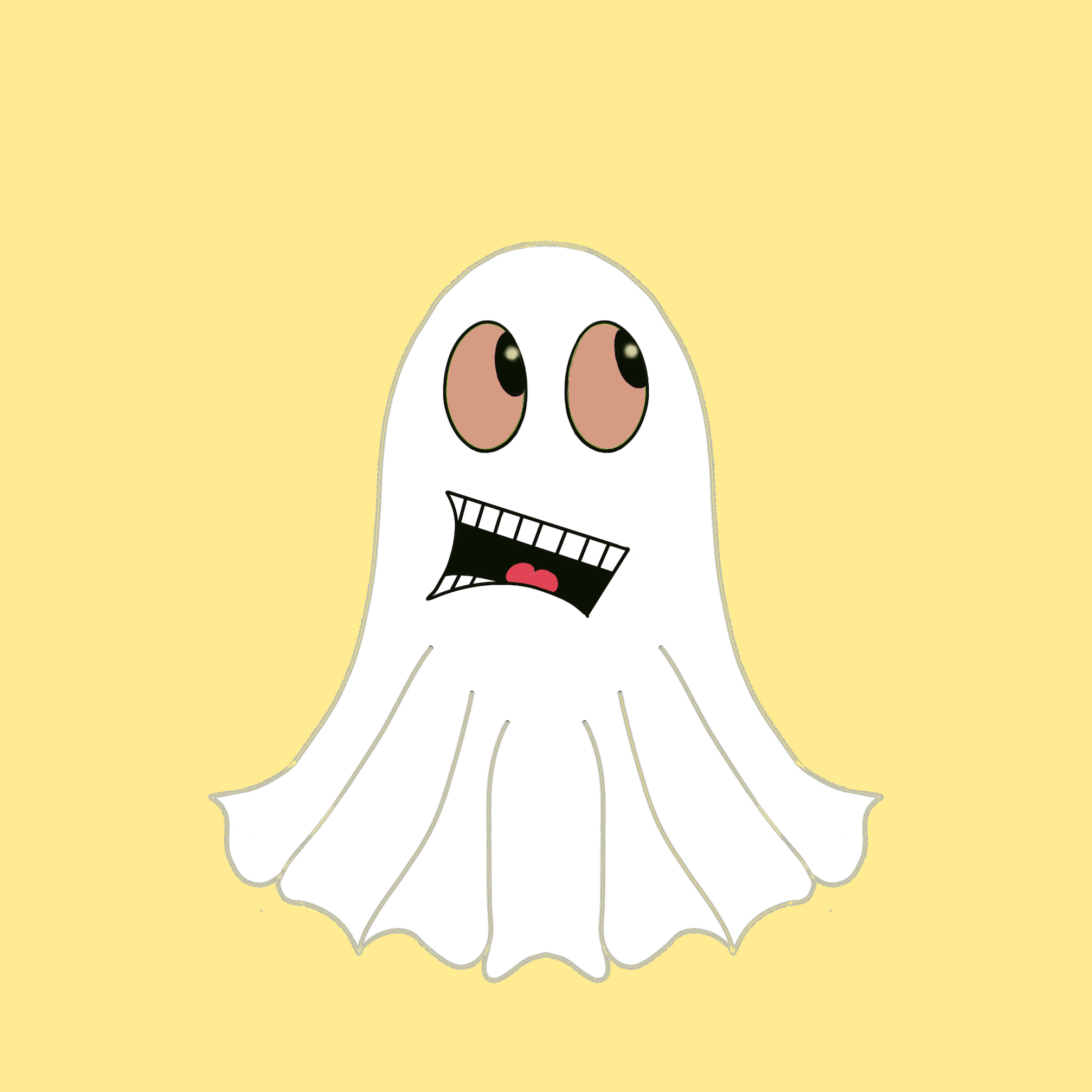 Cute Halloween Ghost stickers messages sticker-10
