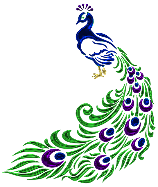 Pretty Peacock Stickers messages sticker-2