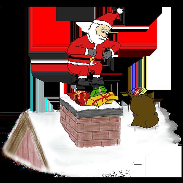 Misbehaving Santa messages sticker-8