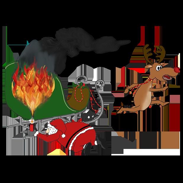 Misbehaving Santa messages sticker-2
