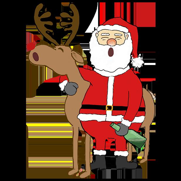 Misbehaving Santa messages sticker-10
