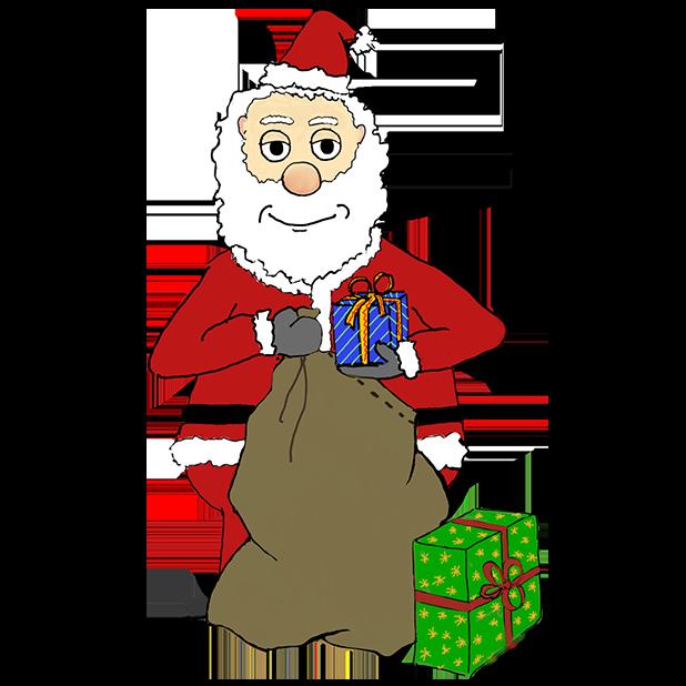 Misbehaving Santa messages sticker-4