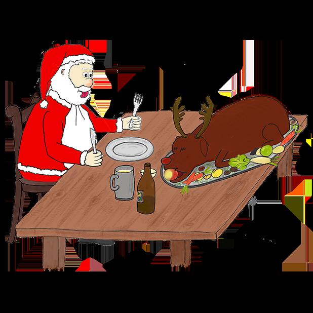 Misbehaving Santa messages sticker-11