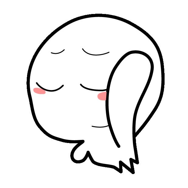 Cute Kawaii Ghost messages sticker-4