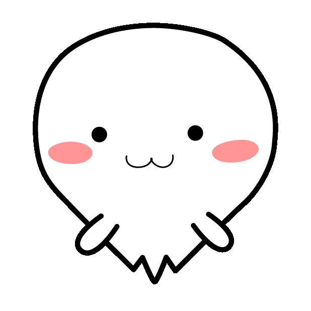 Cute Kawaii Ghost messages sticker-2
