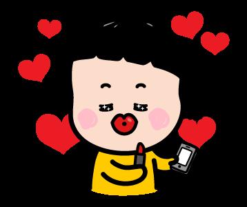 Little Girl Mimi Sticker messages sticker-1