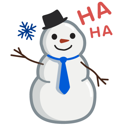 Cool Effect Snowman Stickers messages sticker-0