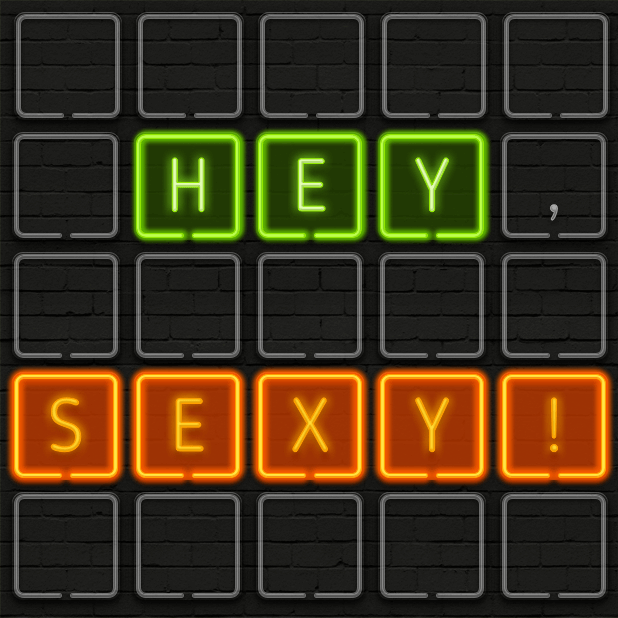 Neon texts - Say IT! by neon messages sticker-2