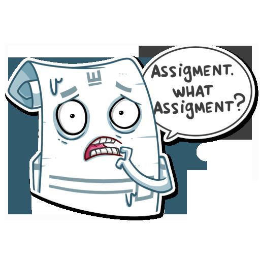 Students Essay Sticker Pack messages sticker-1