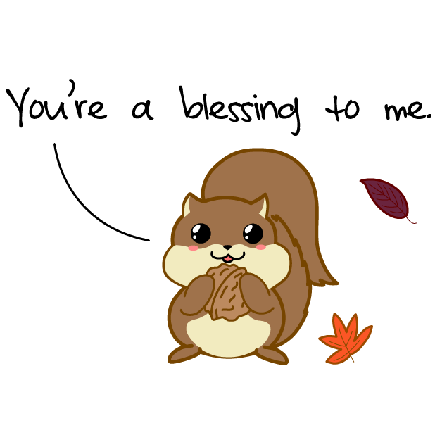 Cute Thanksgiving messages sticker-9