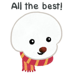 Christmas bichon Yallet messages sticker-4