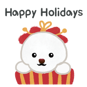 Christmas bichon Yallet messages sticker-2