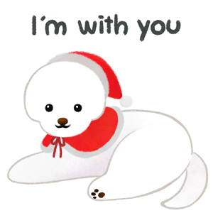 Christmas bichon Yallet messages sticker-5
