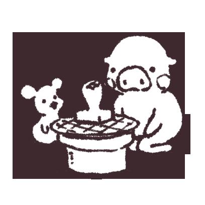 ゆるいブタの日常〈冬〉 messages sticker-9