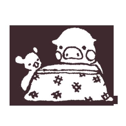 ゆるいブタの日常〈冬〉 messages sticker-5