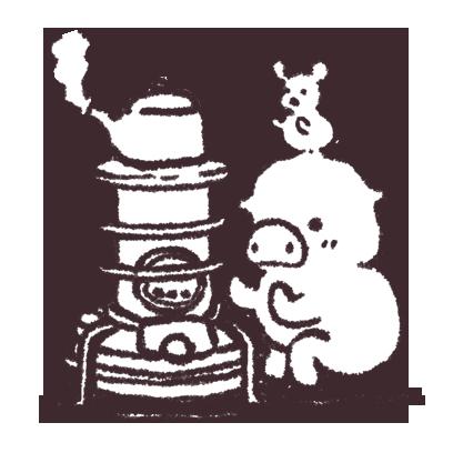 ゆるいブタの日常〈冬〉 messages sticker-4