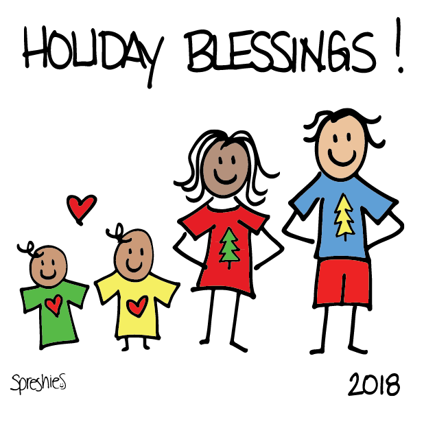 Spreshies: Sample 2018 Holiday messages sticker-1