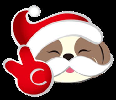 Merry Christmas Shih Tzu Dog messages sticker-3