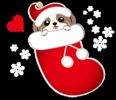Merry Christmas Shih Tzu Dog messages sticker-2