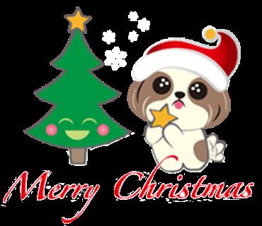 Merry Christmas Shih Tzu Dog messages sticker-0