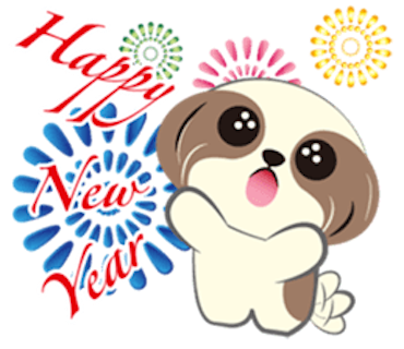 Merry Christmas Shih Tzu Dog messages sticker-7