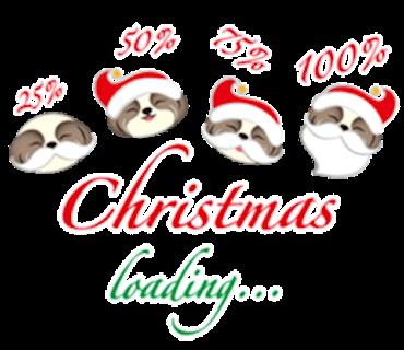 Merry Christmas Shih Tzu Dog messages sticker-5