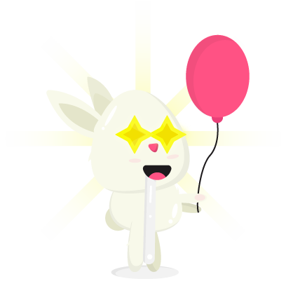 Fluffy - kawaii bunny stickers messages sticker-10