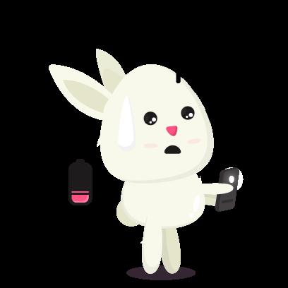 Fluffy - kawaii bunny stickers messages sticker-7