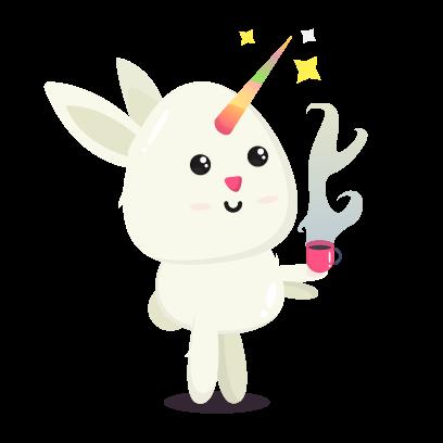 Fluffy - kawaii bunny stickers messages sticker-4