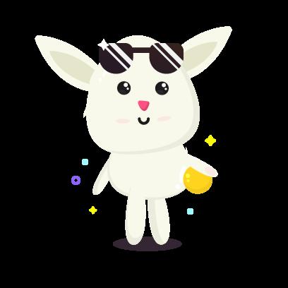 Fluffy - kawaii bunny stickers messages sticker-1