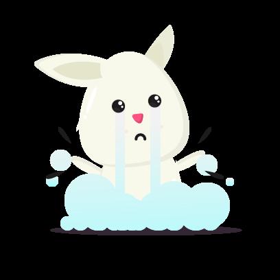 Fluffy - kawaii bunny stickers messages sticker-0