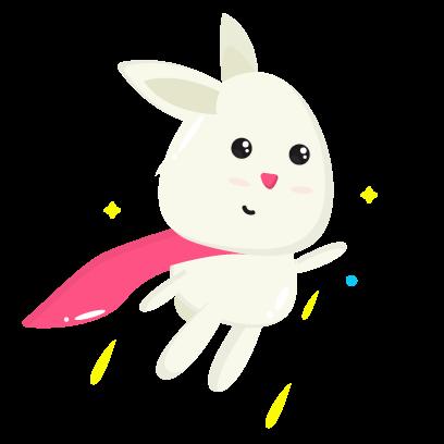 Fluffy - kawaii bunny stickers messages sticker-5