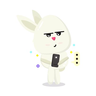 Fluffy - kawaii bunny stickers messages sticker-3