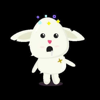 Fluffy - kawaii bunny stickers messages sticker-2