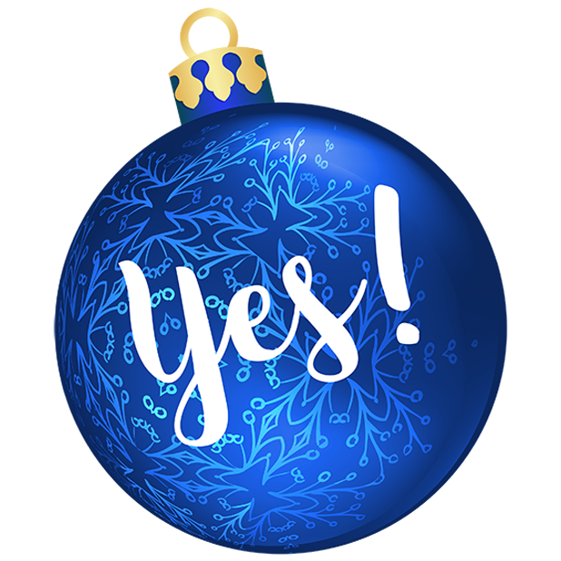 Christmas Bulbs messages sticker-0
