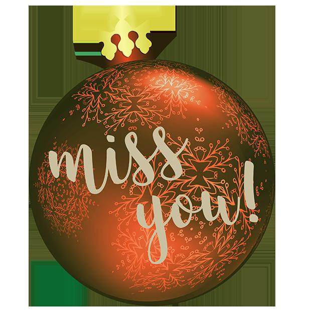 Christmas Bulbs messages sticker-2