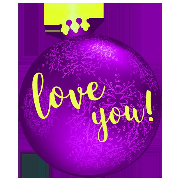 Christmas Bulbs messages sticker-7