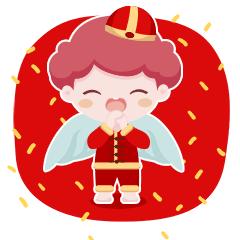 天使宝宝简单-贴纸 messages sticker-8